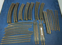 ATLAS SNAP TRACK.  CURVED VINTAGE - 51 Piece LOT. HO SCALE mixed