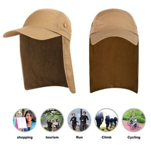 Unisex Outdoor Fishing Cap with Ear Neck Cover Flap Travel Camping Sun Visor Hat