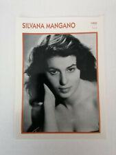 Silvana Mangano - Fiche cinéma - Portraits de stars 13 cm x 18 cm