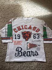 Vintage Chicago Bears Shirt Long Gone 1940 3/4 Sleeve Shirt Mens Sz Large 1963