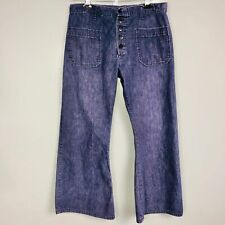 Vintage Men US Navy Pants SZ S Jeans Button Front Fly Bell Bottoms Casual
