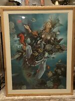 """ISRAEL RUBINSTEIN, Goddess Of The Sea - """"Nymph"""", Limited Edition Signed"""