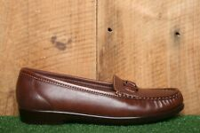 SAS 'Jewel' Brown Leather Slip On O-Ring Loafers Women's Sz. 7N