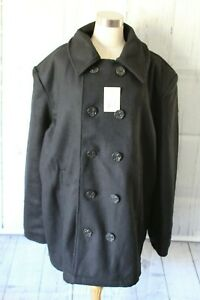 Rothco Peacoat US Navy Style Military Wool Cold Weather Heavyweight Jacket NEW