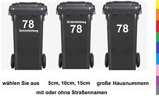 Hausnummern Aufkleber Adresse Mülltonnen Haustüre Briefkaste Postkasten 157/1
