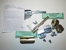 1955 1956 1957 Chevy Windshield Lower & Corner Stainless Molding Trim Clip, USA