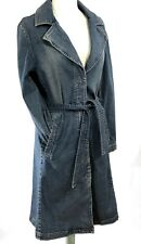 MEXX Women's Long Denim Wrap Jacket | Medium Wash | US sz 8 / 38 UK 12 EU 38