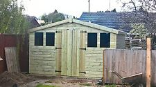 """12X10 REVERSE APEX SHED 19MM T/G TANALISED 3X2 CLS FRAMING 1"""" THICK FLOOR"""
