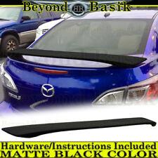 2010 2011 2012 2013 Mazda 3 4Dr 2-Post MATTE BLACK Factory Style Spoiler Wing