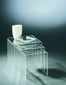 Beistelltisch - Satztisch (3-Satz)  - Acrylglas klar transparent