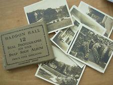 SNAP SHOT SOUVENIR ALBUM 12 REAL PHOTOGRAPH VIEWS HADDON HALL DERBYSHIRE