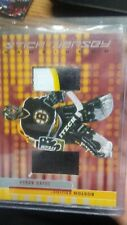 2001-02 Be a Player GU Game Used JERSEY and Stick Card Boston Bruins Byron Dafoe