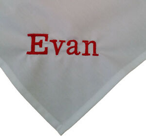 """personalised embroidered napkins 100% cotton 16"""" gift present any name"""