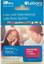 Lebara 4G Triple Cut Mobile Phone SIM Cards
