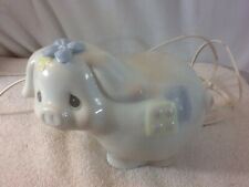 Vintage Collectible Adorable Precious Moments Working Pig Nursery Night Light