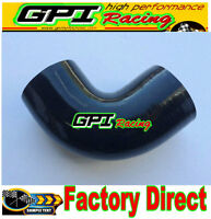 "Silicone 90 degree Elbow Hose Pipe 2"" inch 51mm turbo intercooler Black radiator"