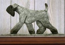 Kerry Blue Terrier Figurine Sign Plaque Display Wall Decoration
