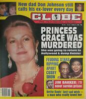 Globe Magazine Oct 24 1989 - Princess Grace Murdered - Cosby Show - Jim Bakker