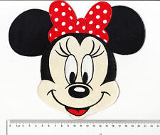 kiTki BIG Disney Minnie mouse head iron-on embroidered patch emblem applique