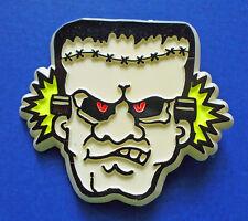 BUY1&GET1@50%~Hallmark PIN Halloween FRANKENSTEIN Head GLOW IN DARK Vtg Brooch