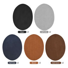 10pcs Oval PU Leather Mending Patches Repair Kit Sewing Cloth Jeans Elbow Knee