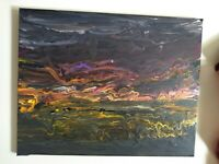 """The Storm Original Acrylic Painting 16"""" X 20"""" Michael Wise"""