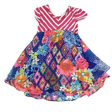 youngland baby 18 month baby girl floral striped short sleeve dress