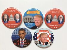 "2017 President Donald Trump Inauguration Day 3"" Buttons Gift Set Lot Mike Pence"