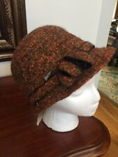 NWT Betmar Hat Size One Size Orange Bucket Speckled Wool Casual