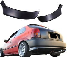 96-00 CIVIC 3 DOOR HB REAR PU BUMPER LIP SPOILER SPLITTER VALANCE SPATS 2PCS