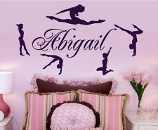 Custom Girls Name Gymnastics Dance Vinyl Wall Stickers Home Decor Wallpaper