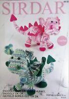 Sirdar Crochet Pattern Dragons  Crofter Chunky Snuggley DK  Glitter DK  4918