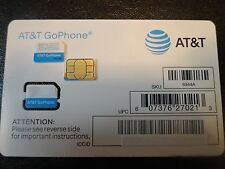 NEW AT&T PREPAID GO PHONE 4G LOOSE-BULK NANO SIM CARD SKU#6944A TALK ,TEXT DATA