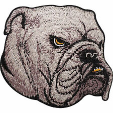 Bulldog Dog Head Embroidered Iron Sew on Patch Clothes T Shirt Hat Jacket Badge