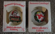 Campbell soup kids  Glass Christmas ornaments vintage  1983,1989  IOB