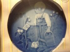 "Royal Copenhagen Bing & Grondahl Children's Day Plate 1987 ""Little Gardeners""boy"