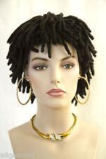 Darkest Brown Brunette Short Curly Wigs