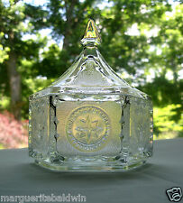 Tiara Indiana Glass Clear Colonial Candy Box & Cover