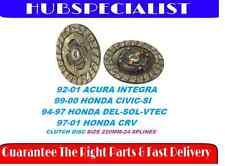 CLUTCH DISC 92-01 ACURA INTEGRA(FITS 94-97 DEL-SOL-VTEC)HCD015U-HCD015C-97-01CRV