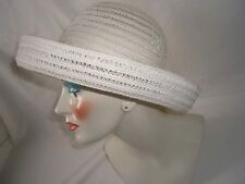 Betmar New York Off White Rolled Brim One Size Fits Most NWOT Paper Poly