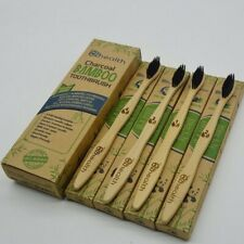 4 Pack Eco Friendly Bamboo Toothbrushes Biodegradable Variety Dental Care