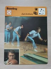 Earl Anthony, Autographed 1977 Sportscaster Card (G-G+) Only 1 on Ebay!!