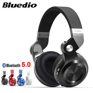 Original Bluedio Turbine T2S Wireless 5.0 Headphones With Mic Wireless Headset