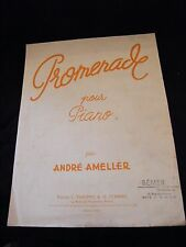 Partition Promenade pour Piano André Ameller Grand Format