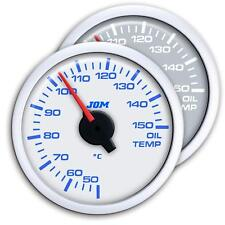 Manometre Temperature Huile Blanc Eclairage LED Diam 52mm JOM AUTOBIANCHI