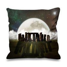 Stonehenge moon fausse soie 45cm x 45cm canapé coussin-festival païen wicca druid
