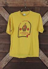 Vtg Bear Valley Strength Camp T-Shirt Yellow W/Red/Brown Bear Logo Sz Med Vg