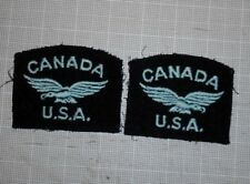 Original WWII Canada RCAF US Volunteer Shoulder Patch Set
