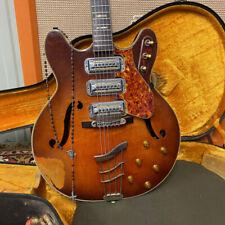 Vintage 1960s Harmony H77 Redburst USA Semi Electric Guitar OHSC *Artist Owned*