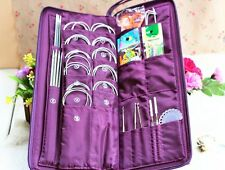 stainless steel knitting needles set Straight+circular Needles+crochet hook